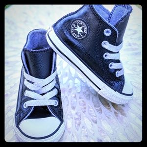 CONVERSE CTAS Toddler Leather Mid-Top Sneakers